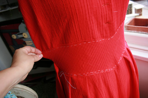 dress before alteration