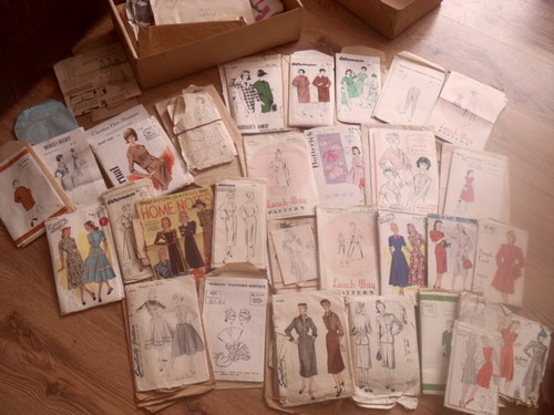 1940s and 1950s patterns won on Ebay