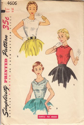 Simplicity 4606 vintage blouse pattern