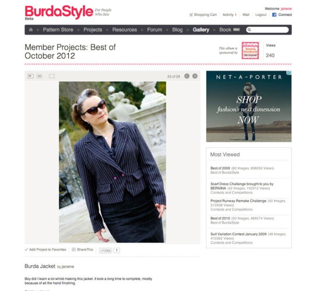 Burda member best of october 2012