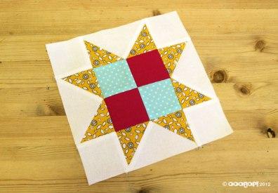 chequer star quilt block