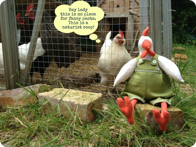 elsie the real chicken approves