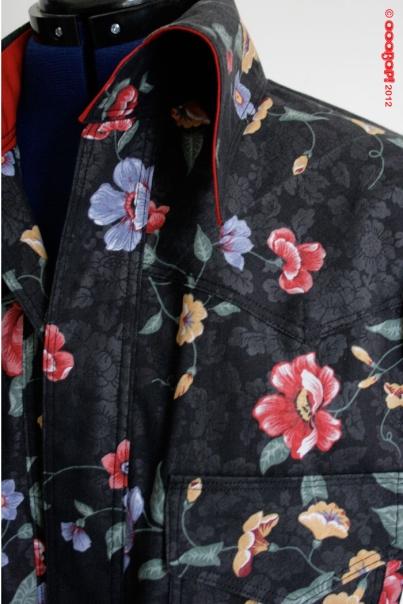flowery western shirt