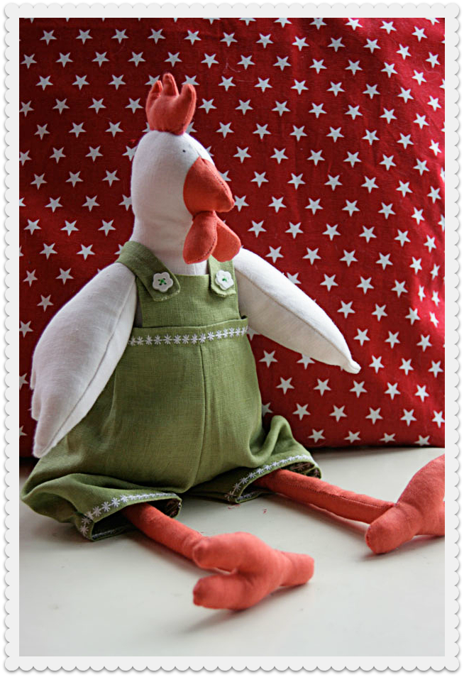 tilda hen toy in linen
