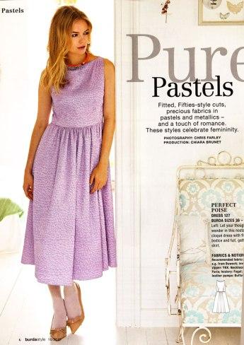 burda october 2012 purple dress