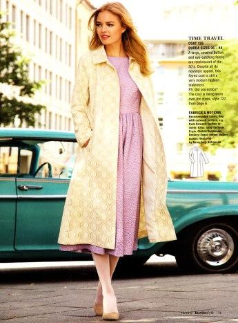 burda october 2012 50s coat