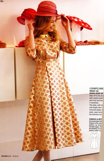 burda october 2012 dress