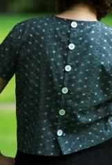 button back retro top