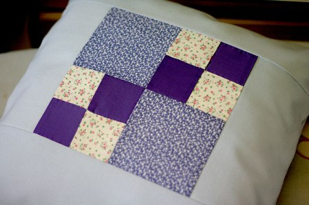 quiltblock cushion cover