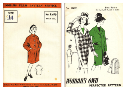 Odhams and Woman's Own coat patterns