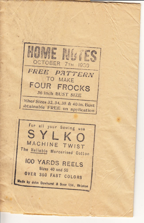 four frocks tissue 1939