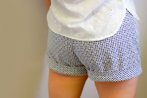 gingham shorts back view