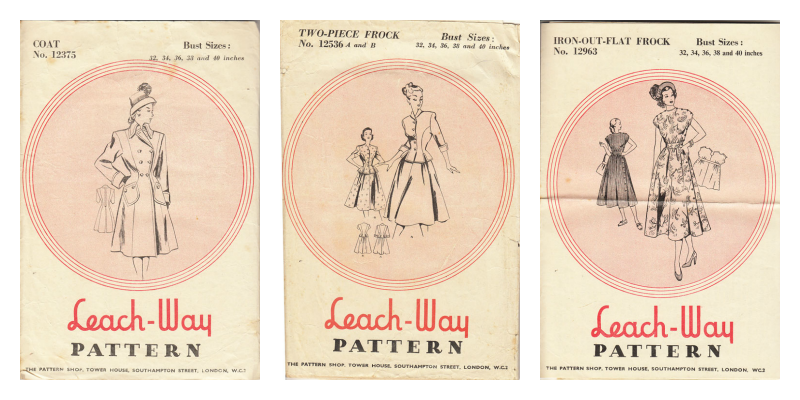 Leach way patterns, 12536, 12375, 12963