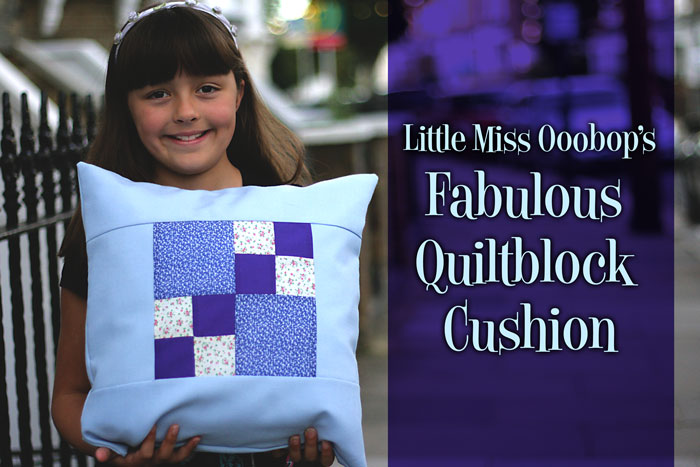 quiltblock cushion cover