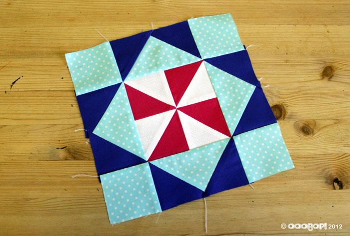 diamond pinwheel quilt block
