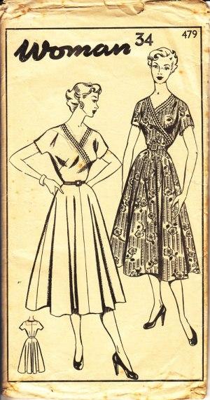 Woman 479 wrap dress
