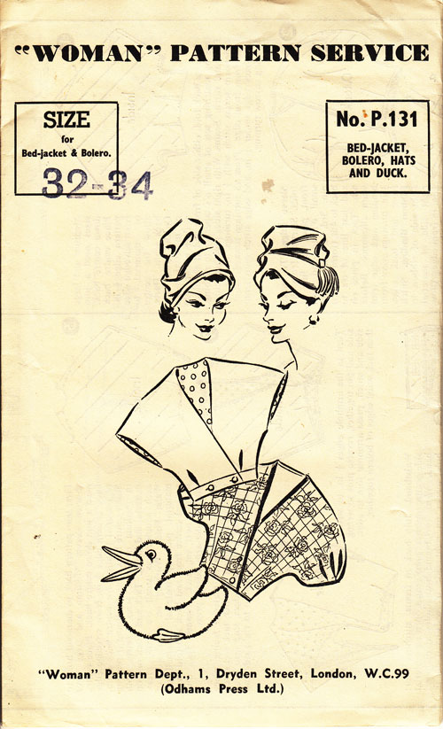 Woman p131 hats bed jackets and duck