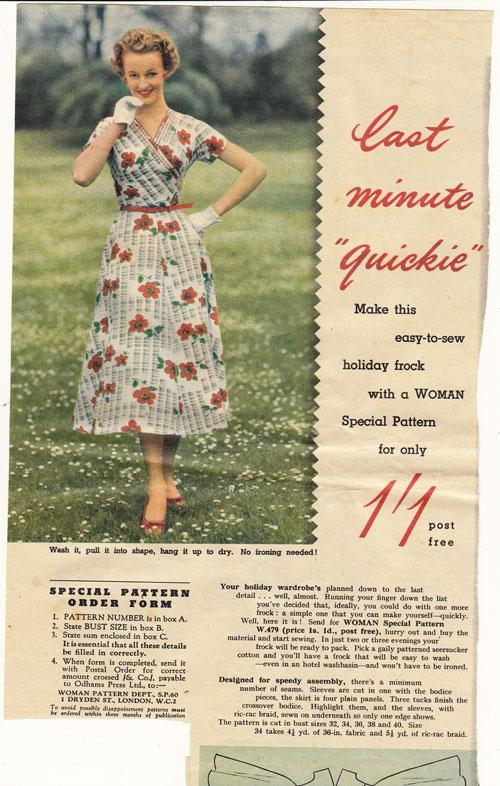 wrap dress mag cutting