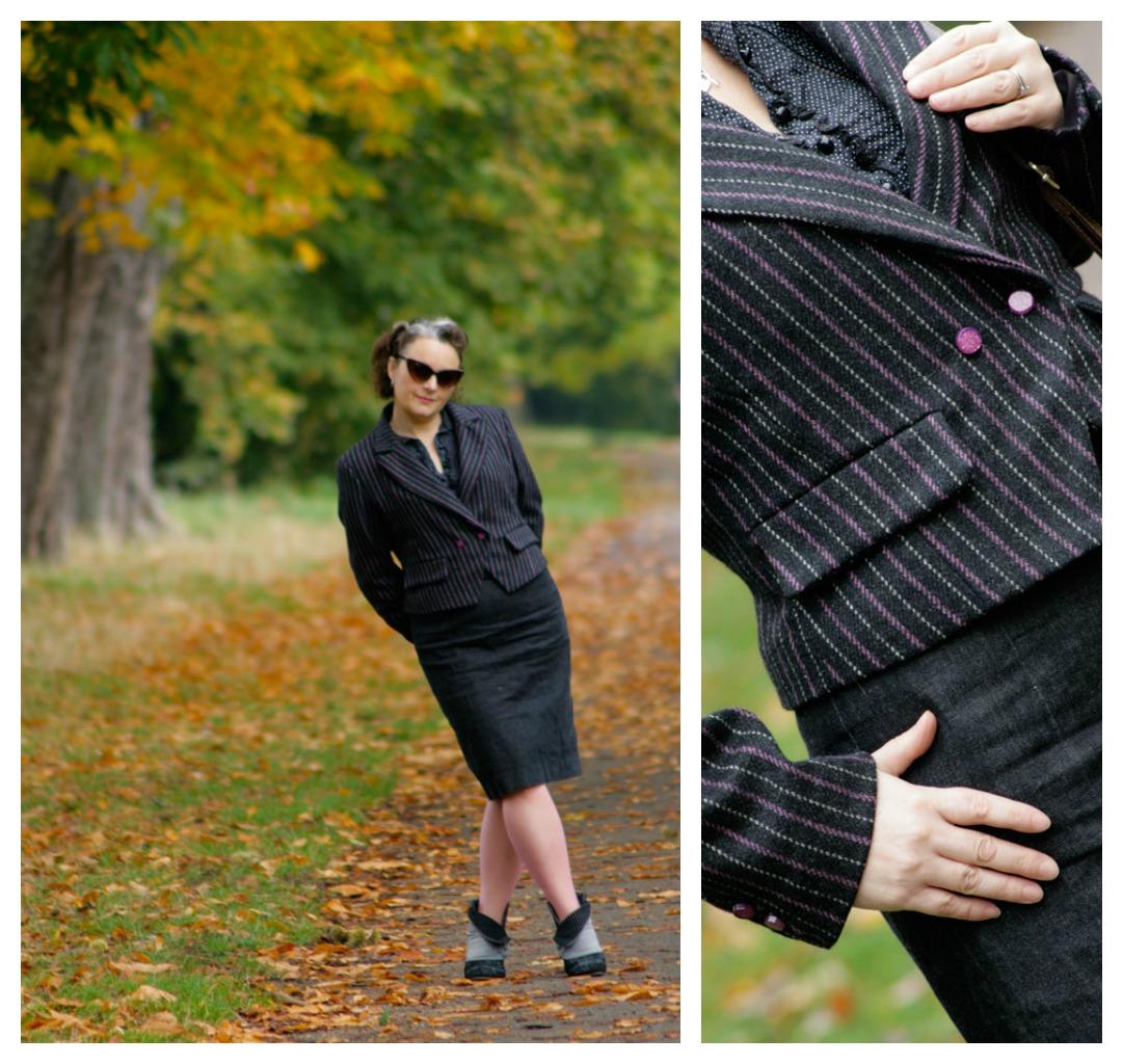 burda jacket autumn leaves