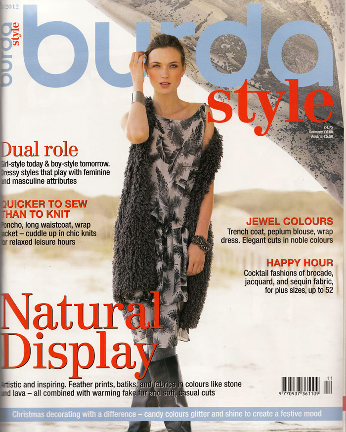Burdastyle magazine november 2012