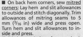 mitred corner instructions