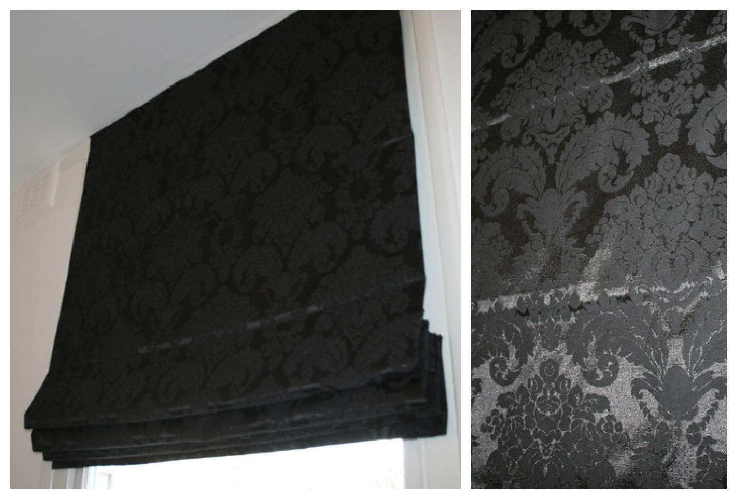 black roman blinds