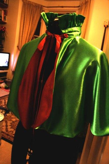 cape on manequin
