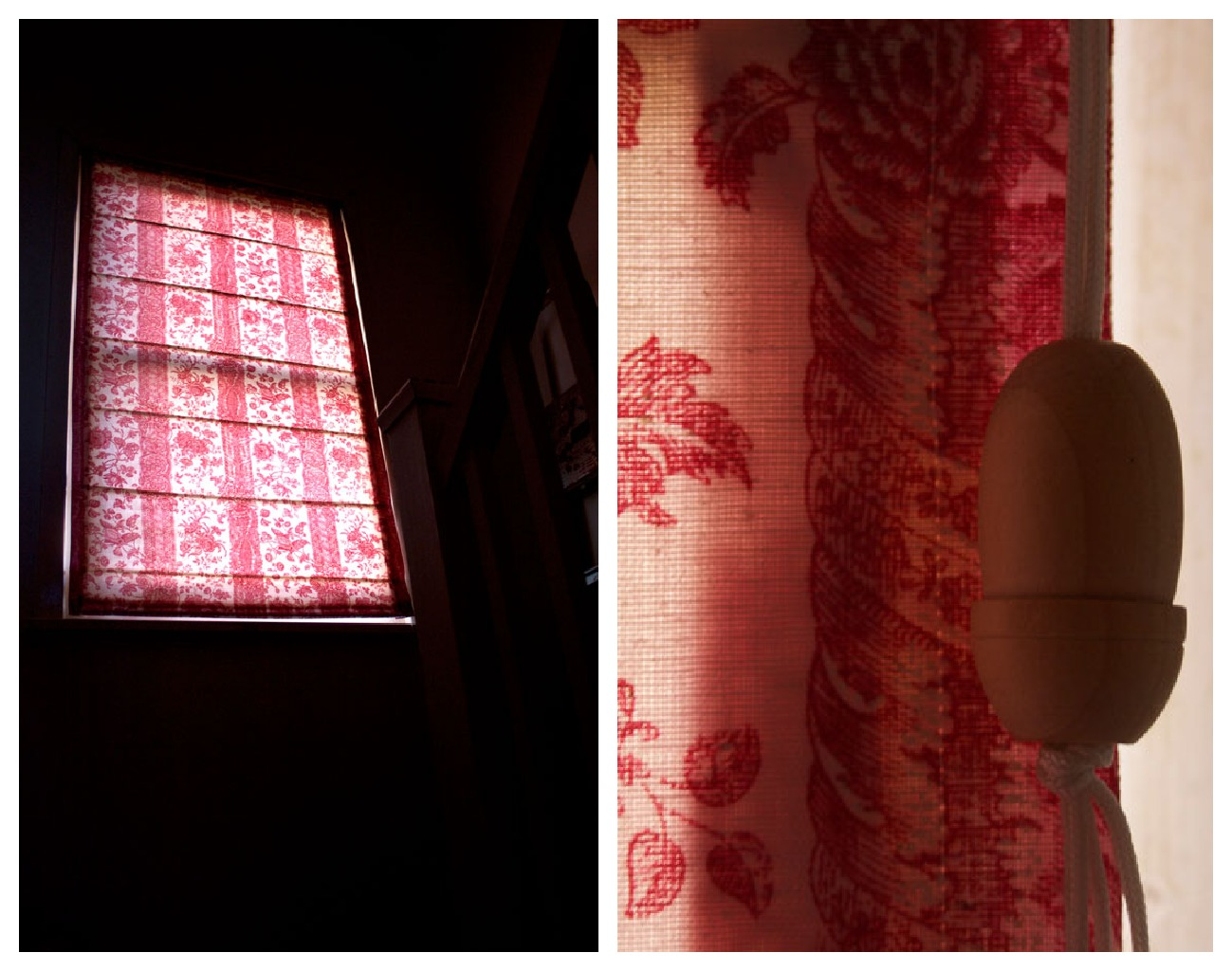 roman shades in the dark
