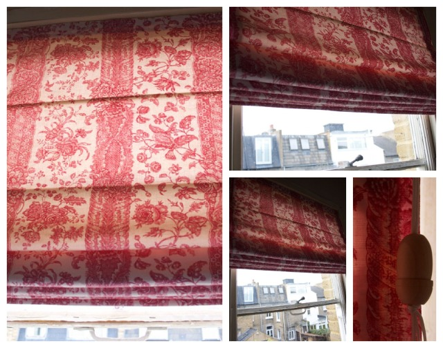roman shades during day