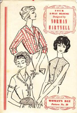 Norman Hartnell blouse pattern
