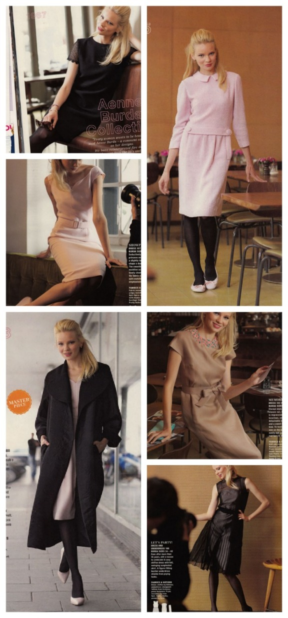 Aenne Burda collection dresses and coat
