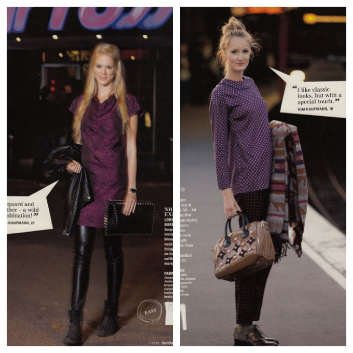Burda January 2013 party in purple