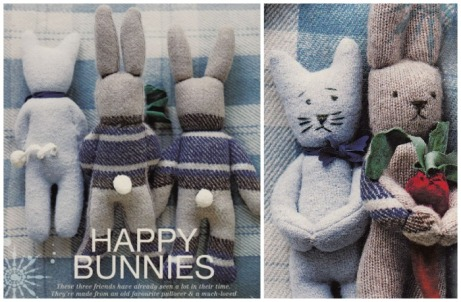 bunnies from recycled jumpers
