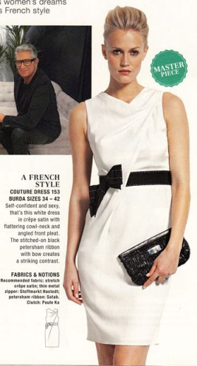 Burda february 2013 designer dress