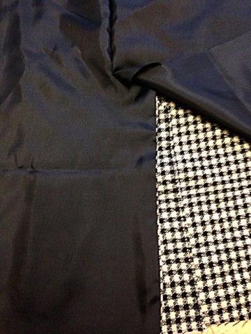 left vent sewn