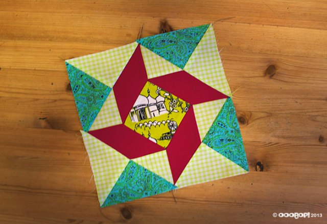 Windblown Square quilt block