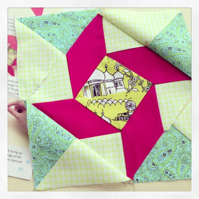 windblown square quilt block wrong