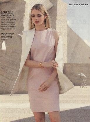 business pink shift dress