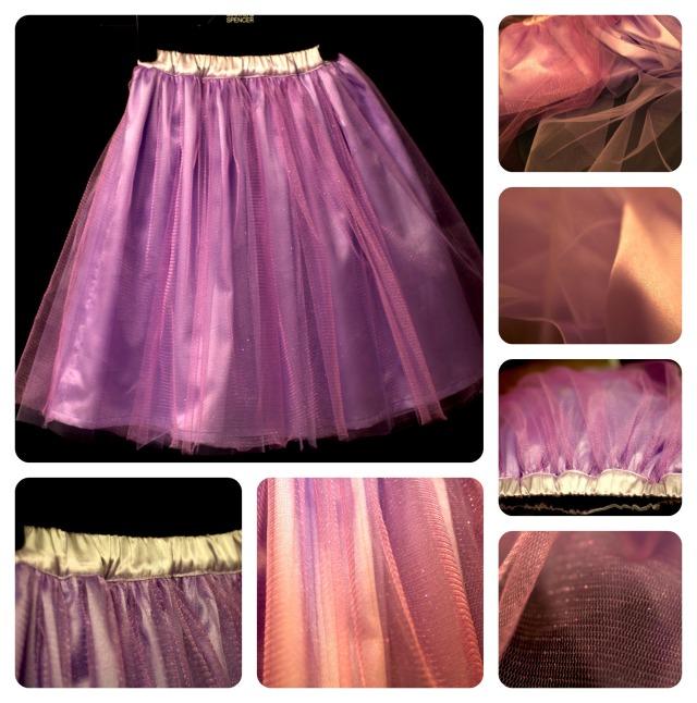 princess skirt collage