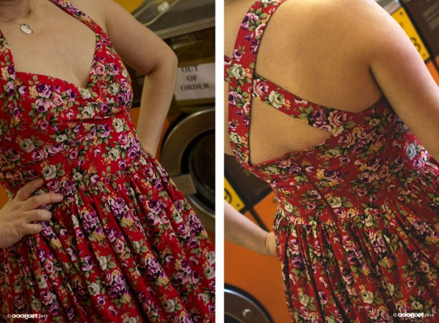 vintage summer dress front and back