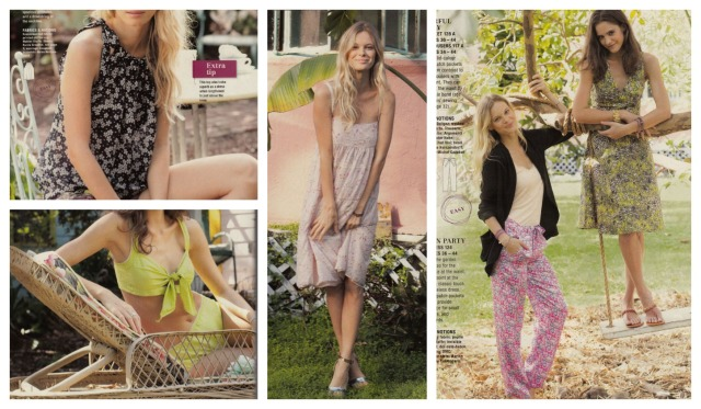 Burda May 2013 flower fashion tops and dresses
