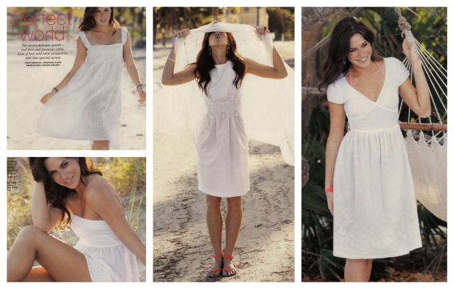 Burda May 2013 white dresses