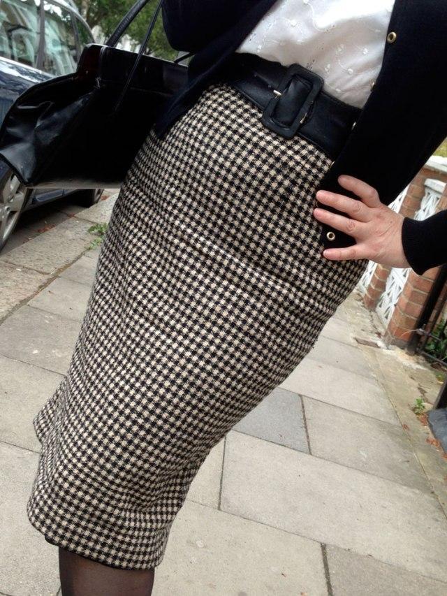 Day 10 wool check skirt mmm13