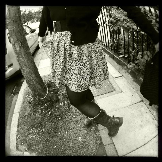 floral mini skirt