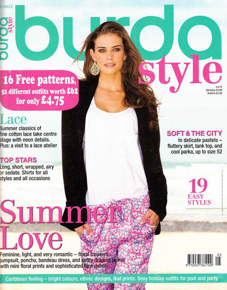May 2013 Fashion Magazine Covers: Ooobop! Review: Burda Style May 2013