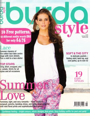 May 2013 Burda cover