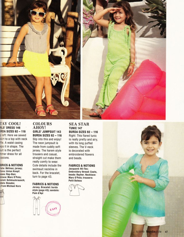 May 2013 Burda kids