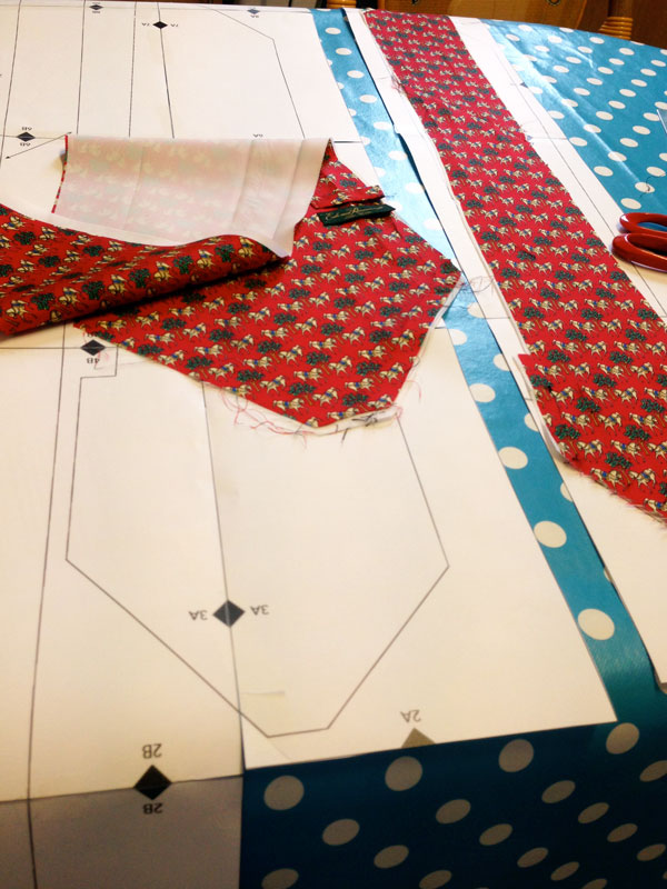 Comparing pattern with existing tie