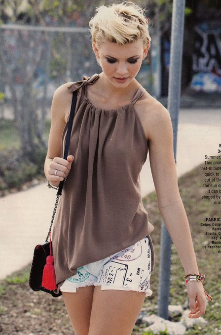 chiffon drawstring top from Burda May 2013
