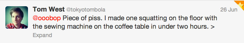 Tokyo Tom tweet